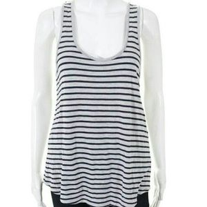 Vince Blue and Grey Stripped Tank Top